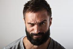 Portrait of an ironic bearded guy Stock Photo