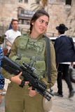 Portrait of Israel Defense Forces woman Stock Images