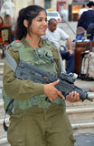 Portrait of Israel Defense Forces woman Royalty Free Stock Photos