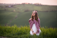 Portrait of an italian girl Stock Images