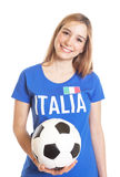 Portrait of an italian woman with ball Royalty Free Stock Image