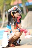 Portrait of Japan anime cosplay girl royalty free stock images