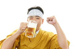 Portrait of a Japanese chef Stock Image