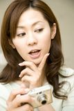 Portrait of Japanese woman Royalty Free Stock Photography