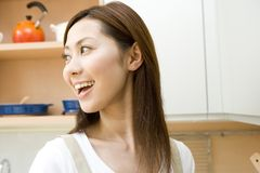 Portrait of Japanese woman royalty free stock photos