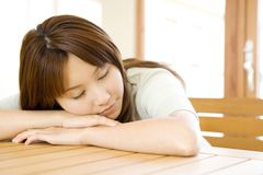 Portrait of Japanese woman Stock Photos