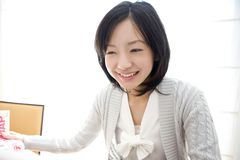 Portrait of Japanese woman Royalty Free Stock Image
