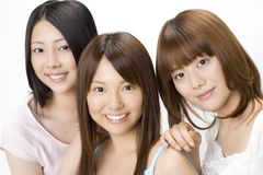 Portrait of Japanese women Stock Images