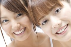 Portrait of Japanese women royalty free stock image