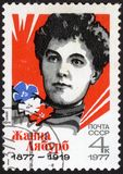 Portrait Jeanne Labourbe. USSR stamp Royalty Free Stock Image