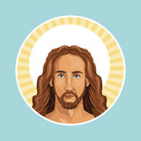 Portrait jesus christ stamp Royalty Free Stock Photography