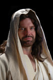 Portrait of Jesus_Close up. With dark background Stock Photo