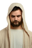 Portrait of Jesus Praying Royalty Free Stock Photos