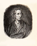 Portrait of John Locke, English  philosopher and physician, XVII Royalty Free Stock Image