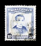 Portrait of Jose Burgos 1837-1872 priest and philosopher, Personalities serie, circa 1955 Stock Photography