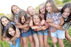 Portrait of joyful beautiful girlfriends Royalty Free Stock Photo