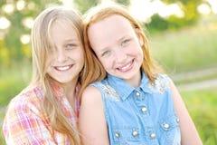 Portrait of joyful beautiful girlfriends Stock Images