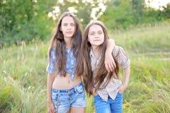 Portrait of joyful beautiful girlfriends Royalty Free Stock Photography