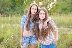 Portrait of joyful beautiful girlfriends Stock Image