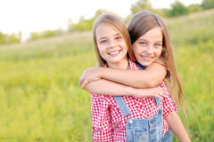 Portrait of joyful beautiful girlfriends Royalty Free Stock Photos