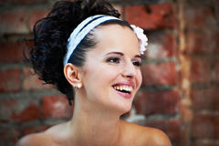 Portrait joyful bride Royalty Free Stock Photography