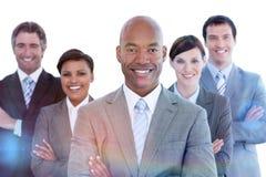 Portrait of joyful business team Stock Photos