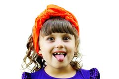 A portrait of a joyful child girl Royalty Free Stock Image
