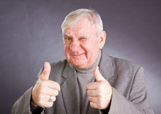 Portrait joyful elderly men Royalty Free Stock Photos