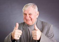 Portrait joyful elderly men Royalty Free Stock Photos