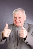 Portrait joyful elderly men Royalty Free Stock Photo