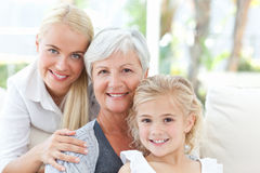 Portrait of a joyful family looking at the camera Royalty Free Stock Images