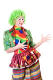 Portrait of joyful female clown Royalty Free Stock Photo