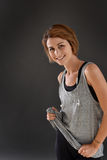 Portrait of joyful fitness woman working out Royalty Free Stock Photography