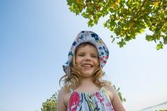 Portrait of joyful little girl Royalty Free Stock Images