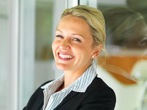 Portrait of a joyful mature business woman Stock Image