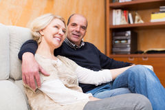 Portrait of joyful mature couple Royalty Free Stock Image
