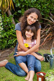Portrait of a joyful mother with her daughter Stock Photo