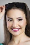 Portrait of joyful woman Stock Images