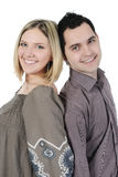 Portrait of a joyful young couple Royalty Free Stock Photo