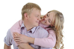 Portrait of a joyful young couple Royalty Free Stock Photography