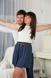 Portrait of a joyful young couple Royalty Free Stock Image