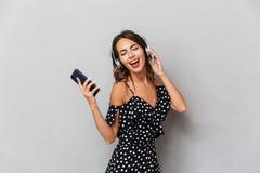 Portrait of a joyful young girl royalty free stock photo