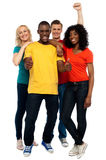 Portrait of joyful young group of friends Royalty Free Stock Photos