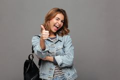 Portrait of a joyful young teenage girl Royalty Free Stock Photos