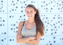 Portrait of a joyful young woman Stock Images