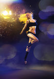 Portrait of a jumping dancer Royalty Free Stock Images