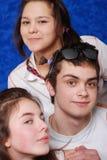 Portrait junge schöne Mädchen und Mens Stockfoto