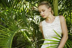 Portrait in jungle Royalty Free Stock Images