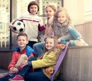 Portrait of junior school kids Royalty Free Stock Images