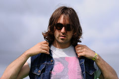 Portrait of Justin Young, leader of the English indie rock band The Vaccines Stock Image